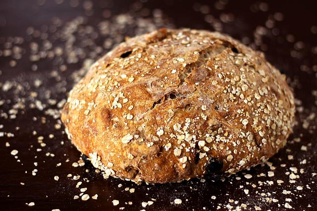 walnut and tart cherry no-knead bread