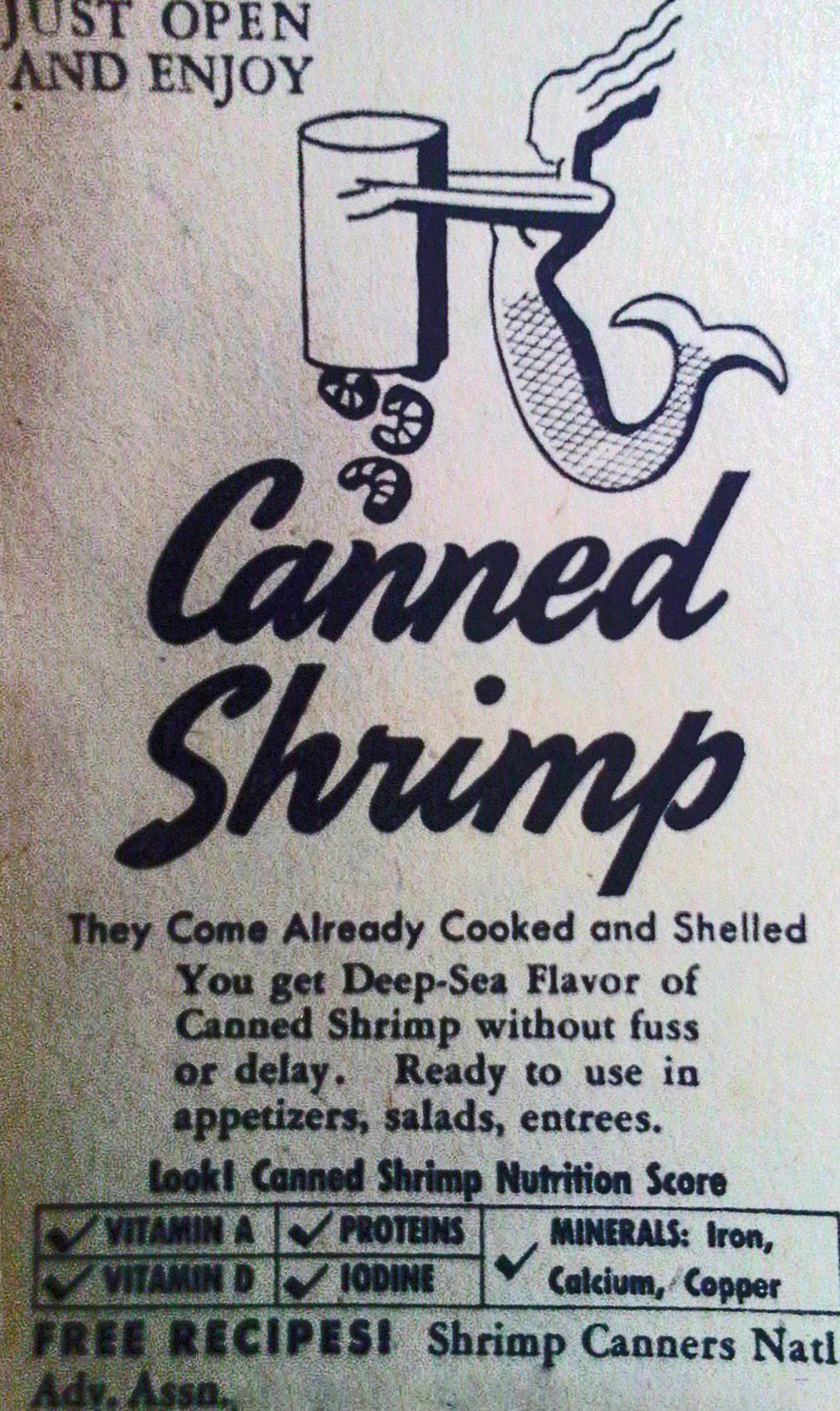 Shrimp Canners National Advertising Association 1942