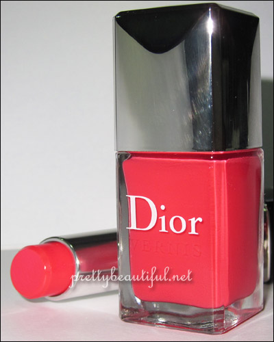 Dior Extreme Lip Color and Nail Color in Lucky swatch