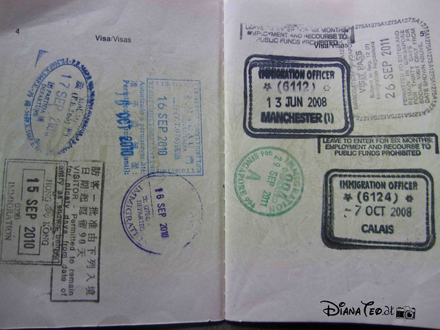 Passport Stamp Collection 01