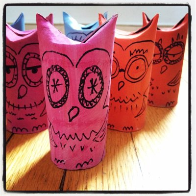 Owly bowling pins