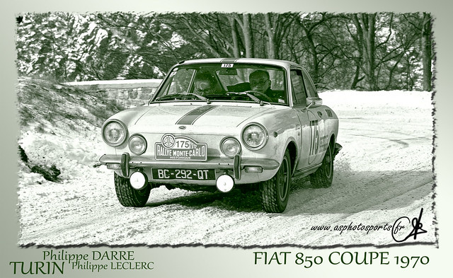 rallye monte carlo historique 2012 fiat 850 coupe 1978 flickr photo sharing. Black Bedroom Furniture Sets. Home Design Ideas