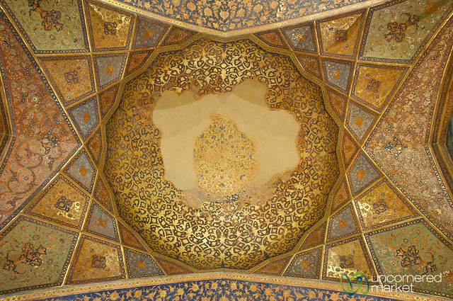 Persian Design Ceiling, Chehel Sotun Palace - Esfahan, Iran