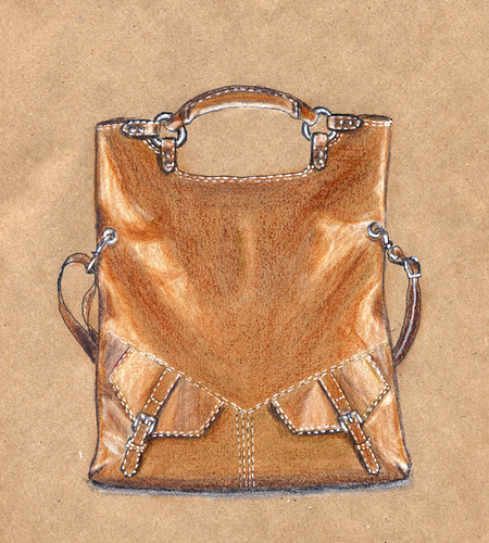 Bag on craft paper