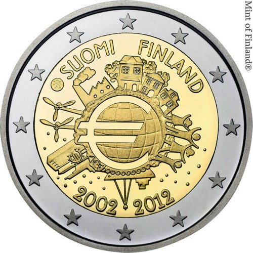2 Euro Fínsko 2012, 10. výročie zavedenia Eura