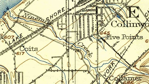 Detail, 1903 USGS Topographic Map