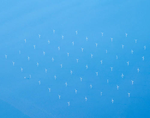 Robin Rigg wind farm, aerial photo