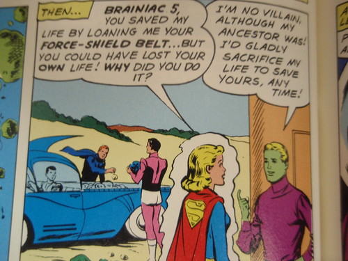 lightning lad, cosmic boy, supergirl, brainiac 5