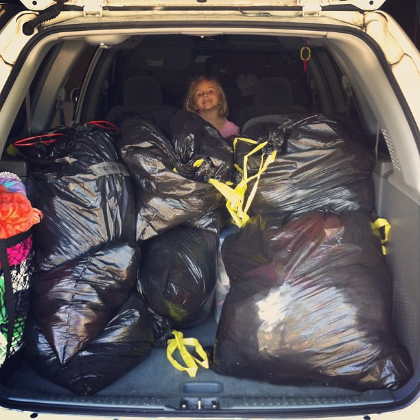 car full for the clothing drive