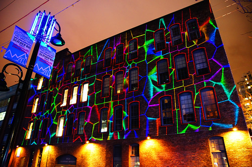 2012 Illuminate Yaletown - Lighting Art on the Wall