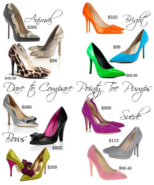 Dare to Compare - Pointy Toe Pumps