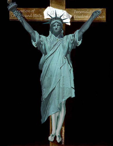 CRUCIFIXION OF LIBERTY by Colonel Flick