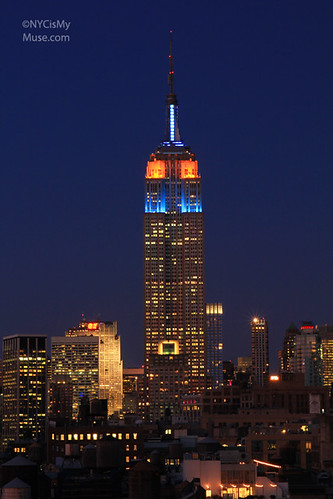 Empire State Building in Blue & Orange in memory of NY Mets fallen hero Gary Carter