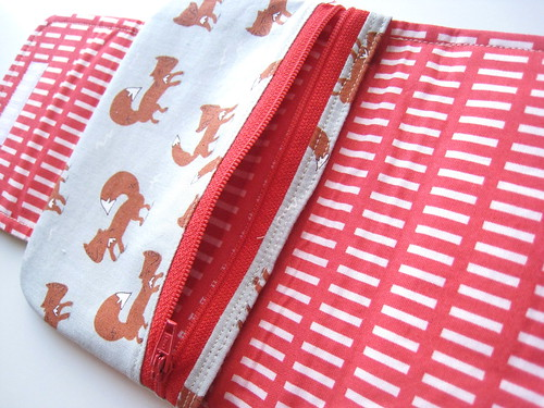fox zipper pouch by PinkPatrice