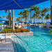Poolside View from Under a Beach Umbrella, Ritz-Carlton Resort, San Juan Puerto Rico