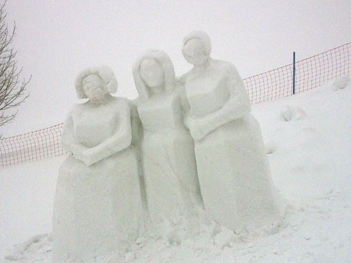 Snow sculpture near SchneeKirche
