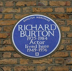 Photo of Richard Burton blue plaque