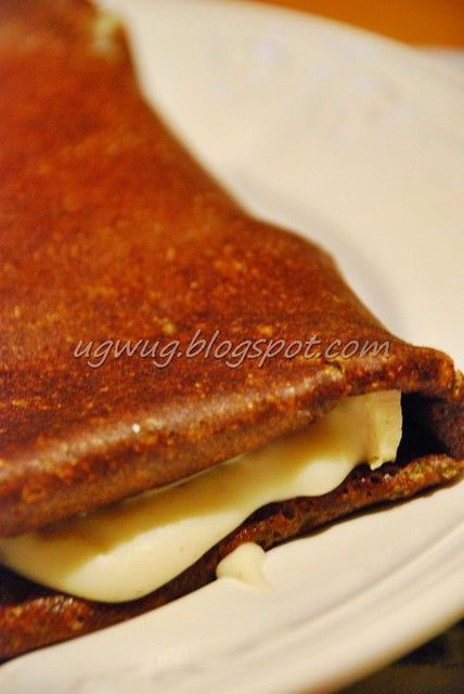 Cheese with ham crepe