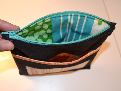 Mouthy Stitches zipper pouch - the linings