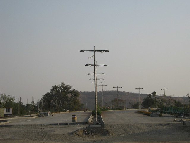 A Part of Central Boulevard with Street Lights - Life Republic - Hinjewadi Marunji - on 22nd February 2012 - World Thinking Day