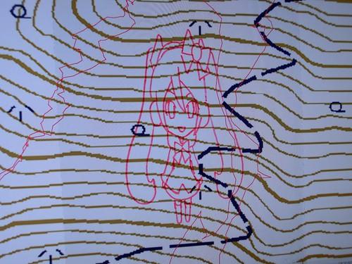 雪ミク on カシミール3D