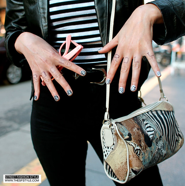 ringo2 zebra, black on black, sf, san francisco, street fashion style,