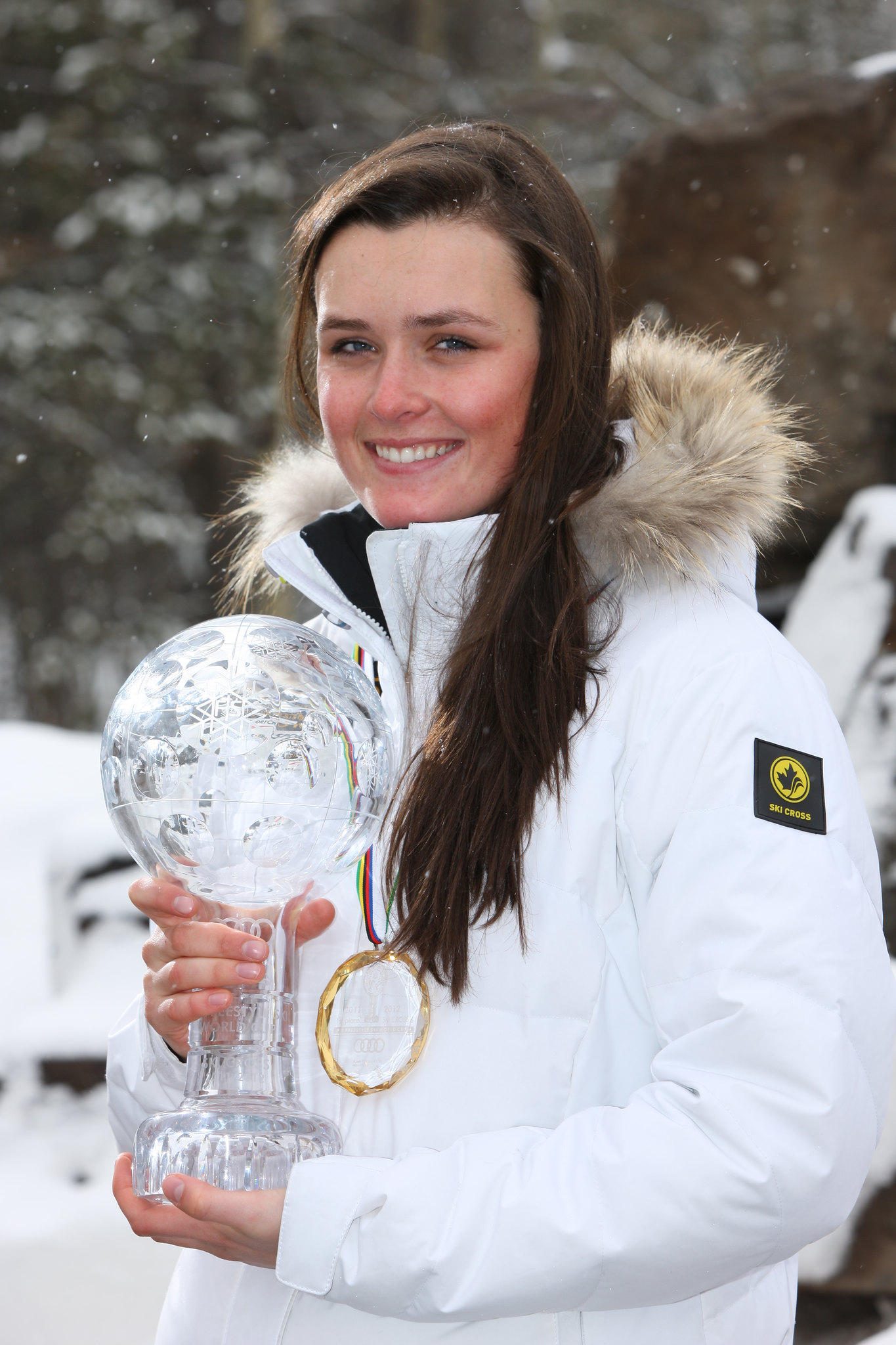 Marielle Thompson is the first Canadian to take home an individual Crystal Globe in ski cross.