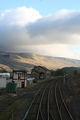 Sunshine on Mallerstang Edge, south of Kirkby Stephen railway station