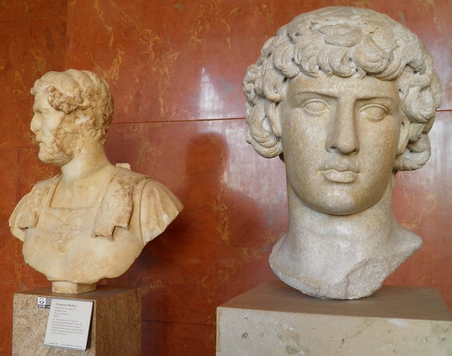 Antinous Dionysos and Hadrian, Louvre Museum