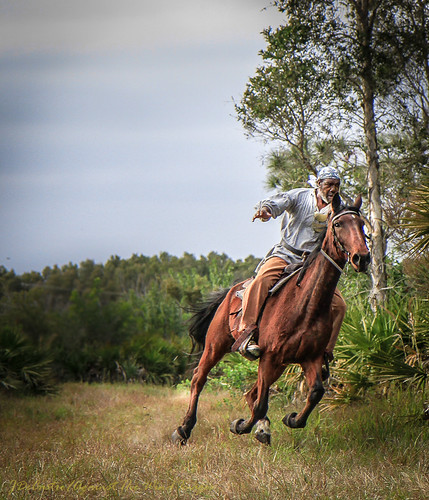 Black Seminole Warrior-6748 by Against The Wind Images