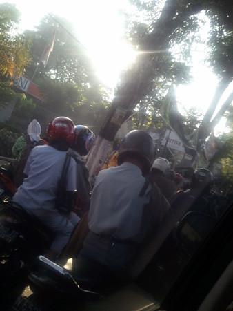 インドネシアの信号待ち