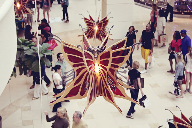 mall butterfly lamp