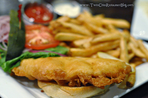 Walleye Sandwich at Rudys Redeye Grill ~ White Bear Lake, MN