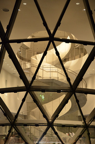 Dali Museum's Helical Staircase at Night - View from outside