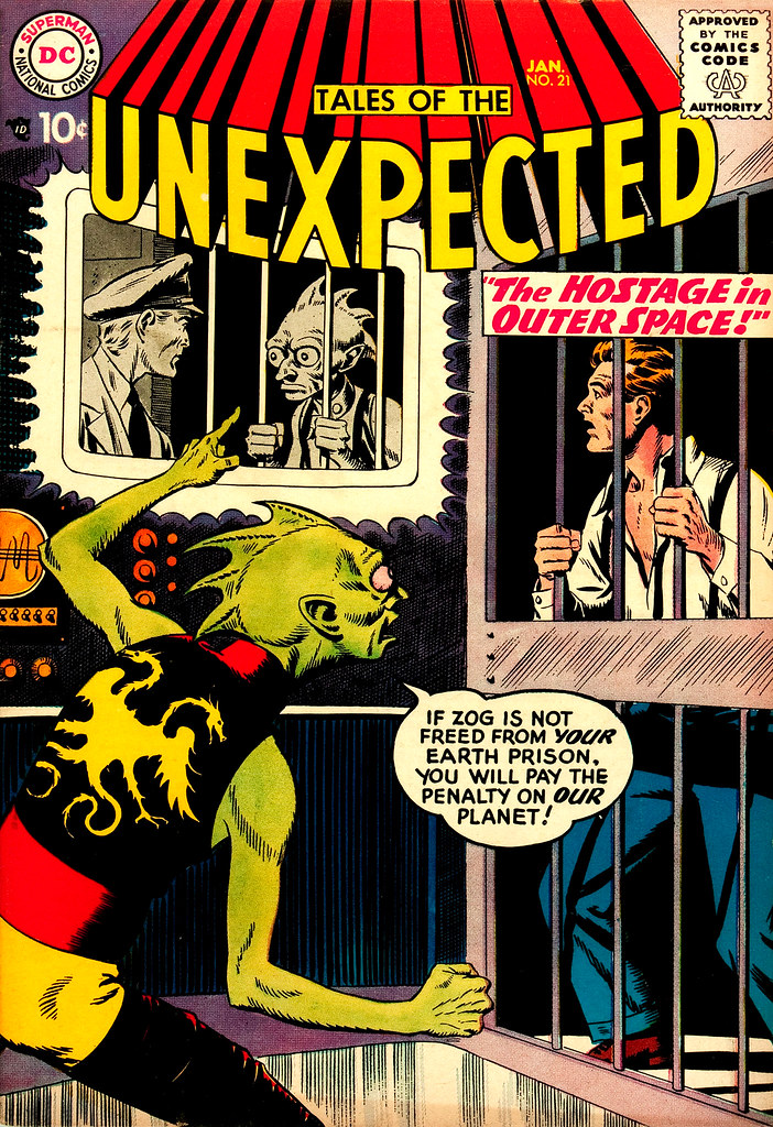 Tales of the Unexpected #21 (DC, 1958) Bob Brown cover