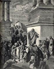 Jonás predicando en Nínive