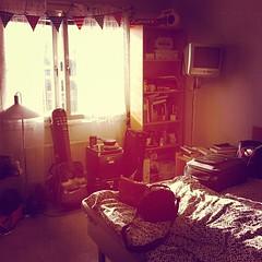 Vårsolen i sovrummet