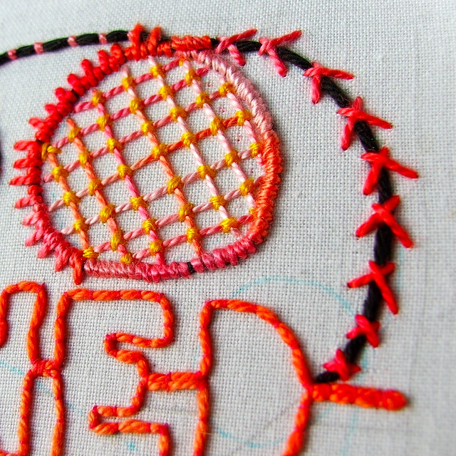 couching stitches— for TAST 2012 (detail)