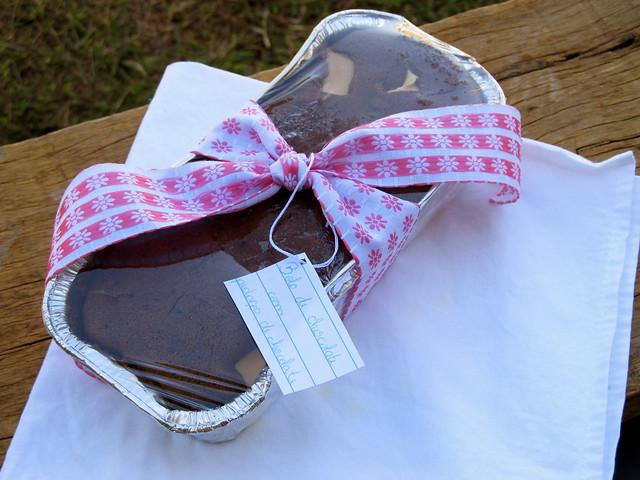 Bolo de chocolate para presentear