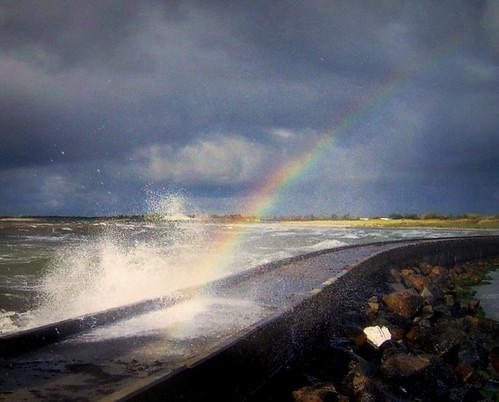 beach denmark rainbow danmark