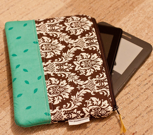 The Pleated Poppy e-Reader Case Fits TWO Kindles