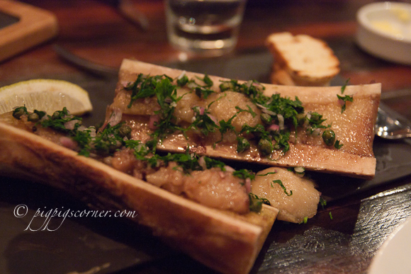 Bedrock Bar & Grill Steakhouse bone marrow