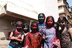 kids on holi shot by marziya shakir 4 year old by firoze shakir photographerno1