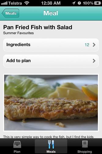 Menu Planner App - Meal