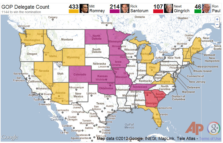 In GOP Nomination Race Geography Has Been Destiny