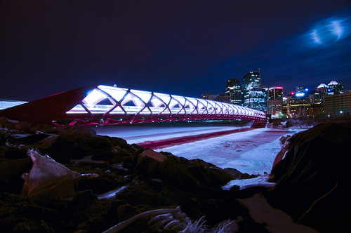 Calgary's new pedestrian Peace Bridge.
