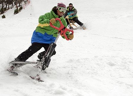 Trikke ski en Vallnord