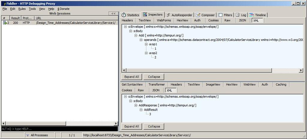 Fidller-WCF-WS-Calc-XML-view