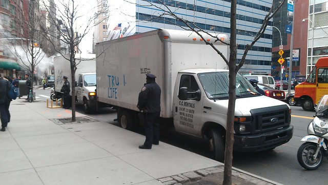 The panel trucks that unloaded the living room furniture #OWS