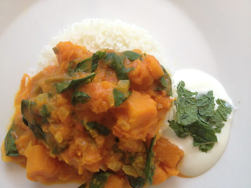 Vegetarian Curry - Pumpkin and Spinach
